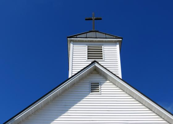 CHURCH ROOF AND CROSS